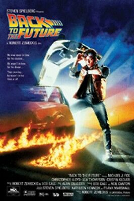 """Back To The Future Poster """"licensed"""" Brand New """"michael J. Fox, C. Lloyd"""""""