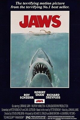 """Jaws Poster """"licensed"""" Brand New"""