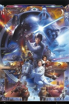 """Star Wars Poster """"30Th Anniversary"""" G. Lucas """"licensed"""" Brand New"""
