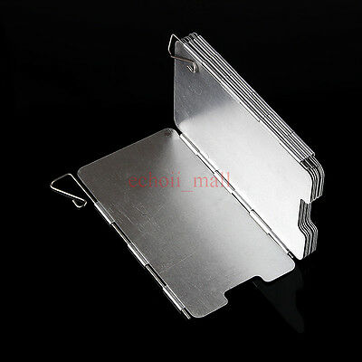 New 9 Plates Foldable Camping Hiking Stove Windshield Screen Picnic BBQ Cookout