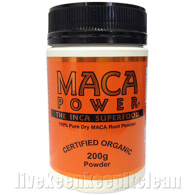 Maca Power - 100% Pure Dry MACA Root Powder - Certified Organic - 200g