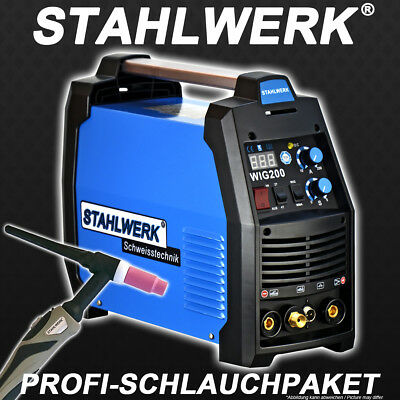 WELDING MACHINE STAHLWERK TIG 200 S -DC Welder ARC STICK Welding with 200 Ampere