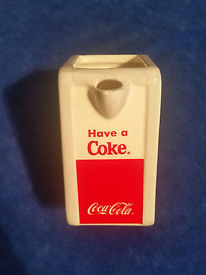 "1996 Coca Cola 3 1/2"" Tall Enesco Creamer Item #675954  - COKE"