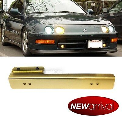 Monterey Front Bumper Aluminum License Plate Relocation Bracket Gold For