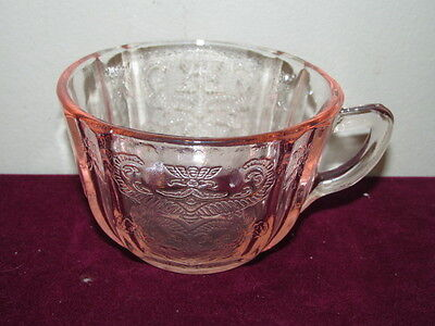 Antique Depression Indiana Recollections Madrid Pink Tea Cup VFC