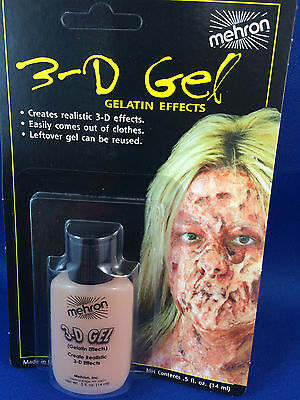 Mehron 3-D Gel gelatin flesh special effects makeup realistic bruises burns scar