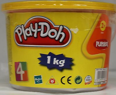 New Hasbro Play Doh 4 Colour 1Kg Tub Pink Green Orange Purple Playdoh Neon