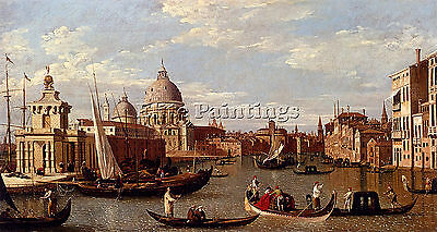 Canaletto Venice Artist Painting Reproduction Handmade Oil Canvas Repro Art Deco