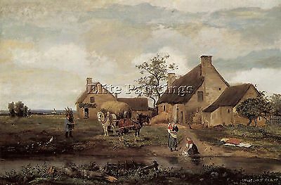 Corot A Farm In The Nievre Artist Painting Handmade Oil Canvas Repro Art Deco
