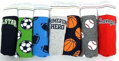 CARTERS Boys 7 Pack COTTON PANTS Football Sports BRIEFS Underwear | Age 2-3 Yrs