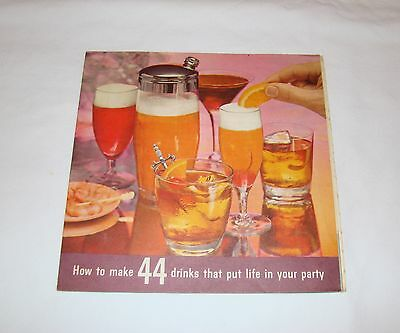 Vintage 1961 SOUTHERN COMFORT HOW TO MAKE 44 DRINKS Barguide Recipes Ad
