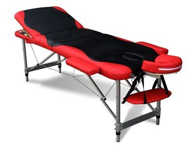 Aluminium Folding Massage Table Lightweight 3 Section Beauty Luxury Couch Bed BR