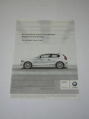 BMW 1 Series Advert from 2007 - Original - features 120i SE