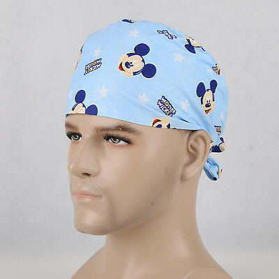 Men Mickey cartoon Printing Surgery Medical Surgical Hat Nurses/Doctors Chef Cap