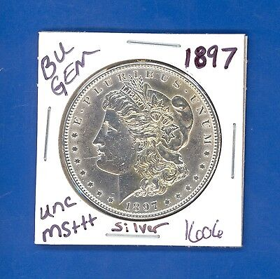 1897 BU GEM MORGAN SILVER DOLLAR COIN #1606 $UNC /MS+++GENUINE US MINT$ RARE