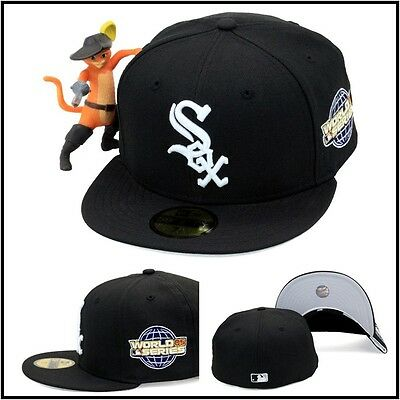 New Era 59fifty Chicago White Sox Fitted Hat 2005 World Series Side Patch  MLB 58d89cb63627