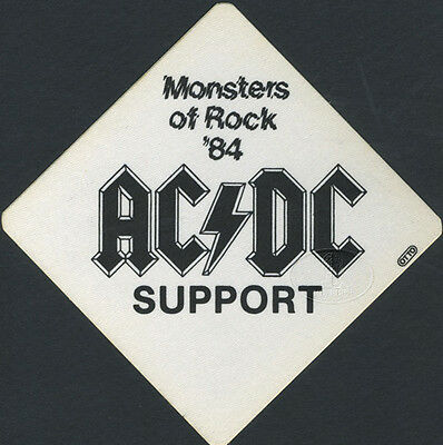 AC/DC 1984 MONSTERS OF ROCK Backstage Pass VAN HALEN