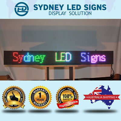 Full Colour Wheather Proof Outdoor Led Message Scrolling Sign Display 100*23Cm