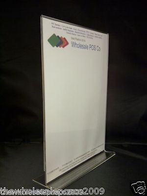 Double Sided A4 Poster Holder Shop Sign Menu Display pack of 5 Clear Acrylic