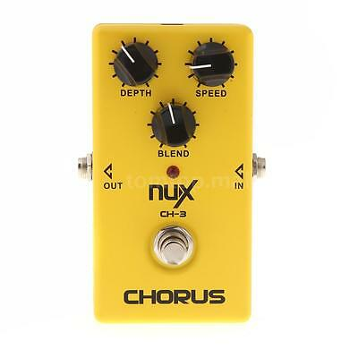 NUX CH-3 Guitar Electric Effect Pedal Chorus Low Noise BBD True Bypass Yellow TM
