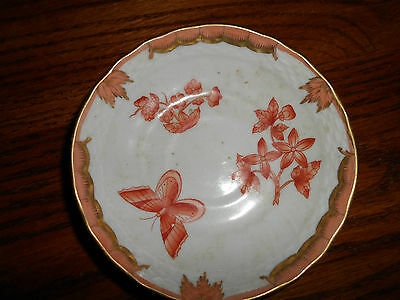 Antique Saucer Only Marked Orange Butterfly Hand Painted
