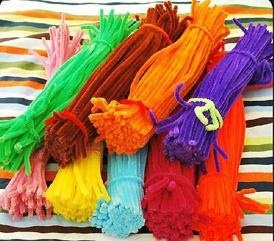 10 x Craft Stems Chenille Pipe Cleaners Multi Coloured 30cm x 5cm / 12''