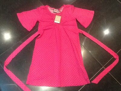 NWT Juicy Couture New & Genuine Girls Age 8 Pink Floral Cotton Dress With Logo
