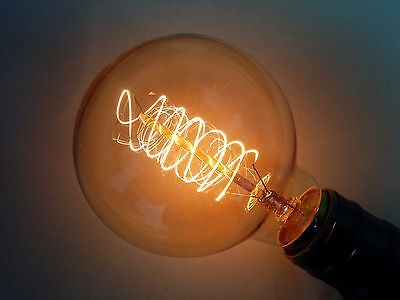 (10PK)Simple Vintage G80 Edison Light Bulb 40W Antique Retro Tinted Globe Spiral