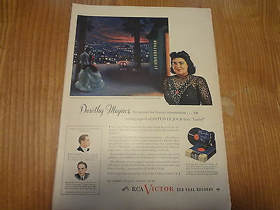 1945 RCA Victor Records Vintage Magazine Ad featuring Dorothy Maynor