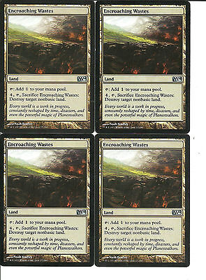 mtg Magic 4x Encroaching Wastes ( Yermos invasores ) English  M2014 NM-