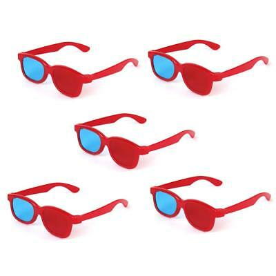 5 Pairs Children Plastic Red/Blue 3D Glasses for 3D Anaglyph Movie TV DVD