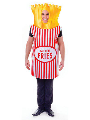 53a9924d1c63 Adult French Fries Fancy Dress Costume Outfit Food Fun Hen Stag Do Mens  Womens