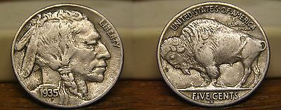 1935-S Buffalo Indian Head Nickel 1935S Us Coin
