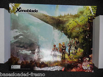 "Very Rare Xenoblade Chronicles Poster SDCC Wonder Con 22"" by 28"" #2 Wii"