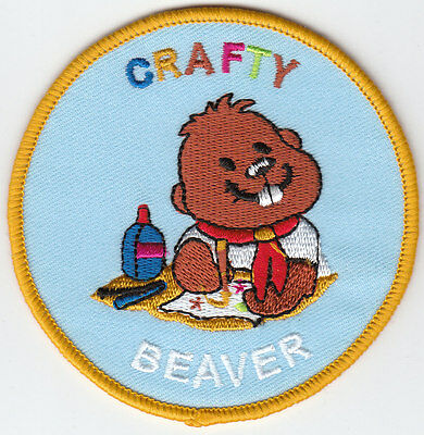 Boy Scout Badge embroidered CRAFTY BEAVER