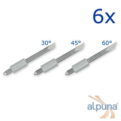 6 Plotters for Graphtec 1,5mm - 30° ALPUNA Quality blades