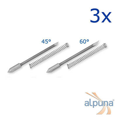 3 Plotters for Graphtec 0,9mm - 45° ALPUNA Quality blades