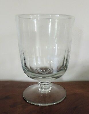 Large Antique 19th c. Clear Thumb Cut Glass Footed Vase Crystal Urn