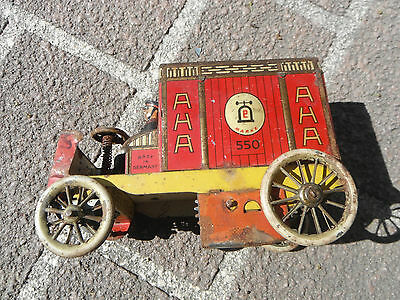 Patend Date 1906 AHA Tin Van Lehman Delivery Truck # 550 Made in Germany