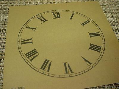"Vintage Replacement Antiqued Color 3-1/2"" Alarm Clock Roman Numeral Dial ZZ106d"
