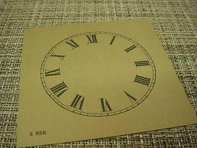 "Vintage Replacement Antiqued Color 3"" Alarm Clock Roman Numeral Dial ZZ106c"