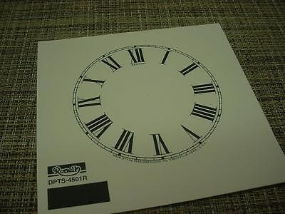 """Replacement Antiqued Color 4-1/2"""" Roman Numeral Sessions Clock Co. Dial ZZ42"""