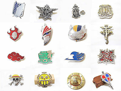 BIG size metal badge/brooch of Attack On Titan/Bleach/Naruto/One Piece/Fairy Tai