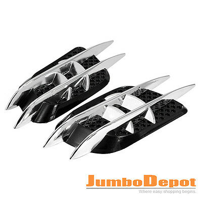 Chrome Air Intake Side Vent Duct Fender Grille Decorative For Nissan Altima 350Z