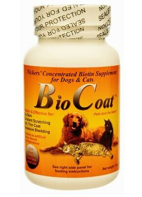 Bio Coat Concentrated Biotin Dogs & Cats Supplement - for skin & coats