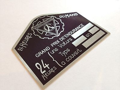 24 Hrs Le Mans Metal Tag Plate Vintage And Classic Race Sports Car Sign