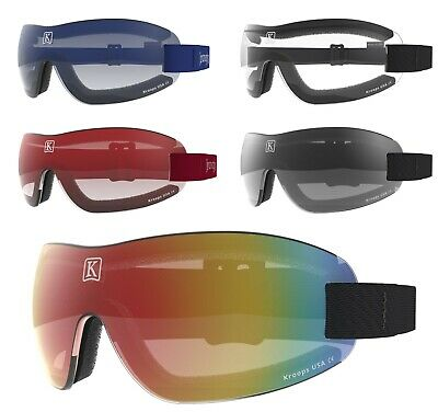 NEW- KROOPS IK-91 Skydive Parachuting Sport Safety Goggles |Gradient Mirror Lens