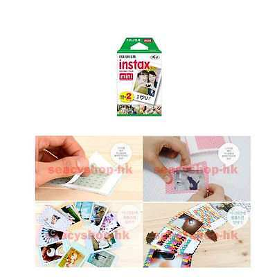 2 Pack Fujifilm Instax Mini Film 20 Pcs Mini 9 8 25 7S 50s 100 SP-1 Instant