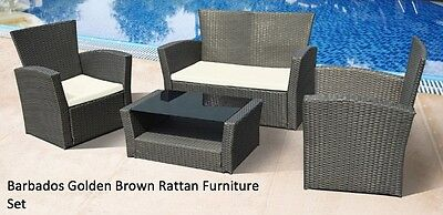 Outdoor Rattan Patio Set Sofa Chairs Coffee Table Garden Furniture Outdoor Only