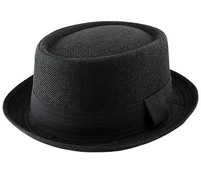 HEISENBERG BREAKING BAD PORK PIE Trilby Porkpie Hat Cap Textured Black